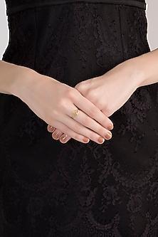 Gold Plated Natural Labradorite Ring by Diane Singh