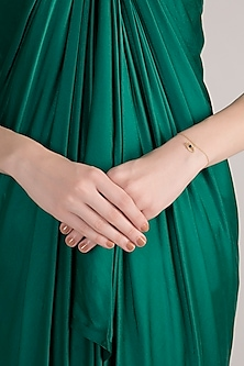 Gold Plated Handcrafted Iolite Bracelet by Diane Singh