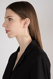 Gold Plated Handcrafted Earrings by Diane Singh