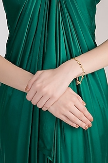 Gold Plated Handcrafted Bracelet by Diane Singh
