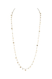Gold Plated Handcrafted Long Necklace by Diane Singh
