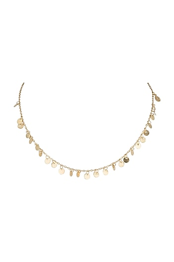 Gold Plated Handcrafted Necklace by Diane Singh