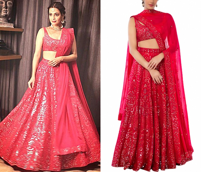 Pink Embroidered Lehenga Set by Tamanna Punjabi Kapoor