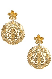 Gold Plated Flower Earrings by Digna