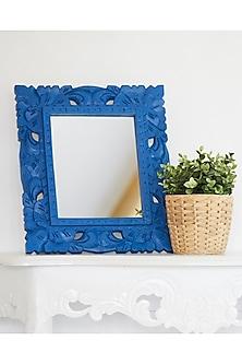 Wooden Mirror In Blue by I Heart Homez