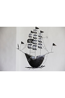 Pirates Ship In Black by I Heart Homez