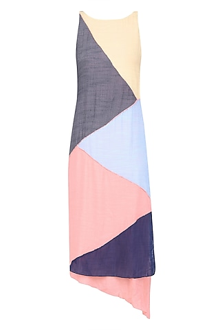 Multicolor Geometric Patchwok Maxi Dress by Diksha Khanna