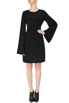 Black Jacquard Dress by Dhruv Kapoor