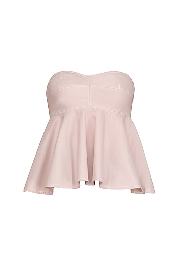 Blush Pink Strapless Bralet/ Top by Dhruv Kapoor
