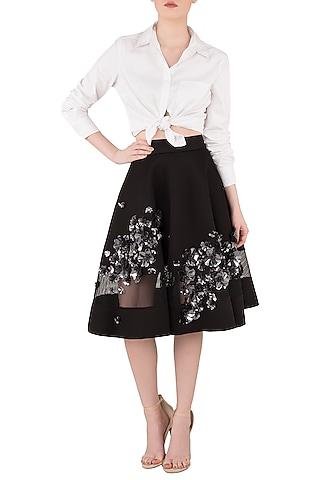 Black Skater Skirt by Dhruv Kapoor