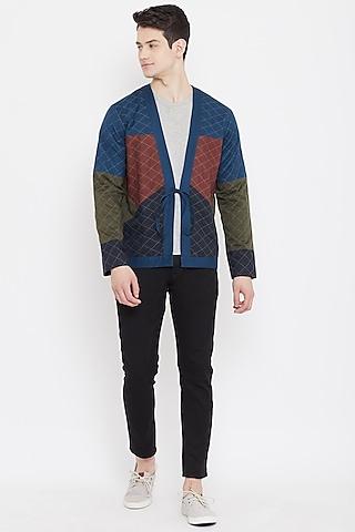 Multi Colored Patchwork Jacket by Doodlage Men