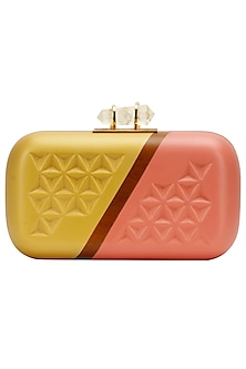 "Gold and pink ""Two tone"" clutch by Duet Luxury"