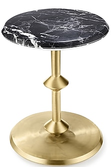 Black & Golden Round Table by Metl & Wood