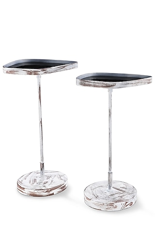 White Fancy Table (Set of 2) by Metl & Wood