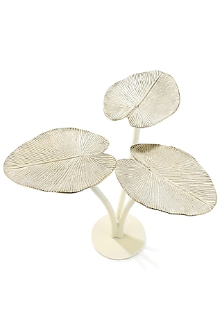 Golden Aluminum Leaf Table by Metl & Wood