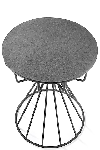 Black Iron Round Table by Metl & Wood