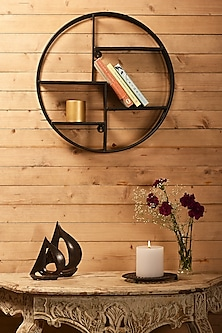 Black Iron Wall Rack by Metl & Wood