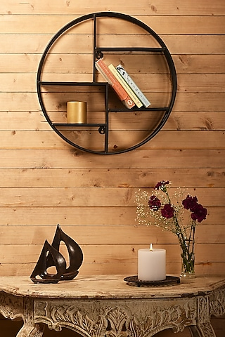 Black Iron Wall Rack by Metl & Wood