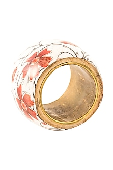 Floral Wood Napkin Ring (Set of 6) by Metl & Wood