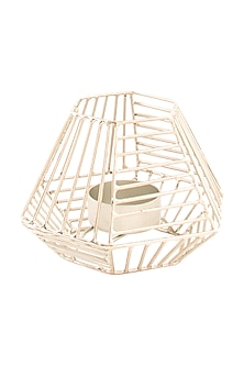 Silver Iron Webbed Tea-light Holder by Metl & Wood