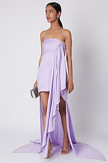Lilac Gown With Ruching by Deme by Gabriella