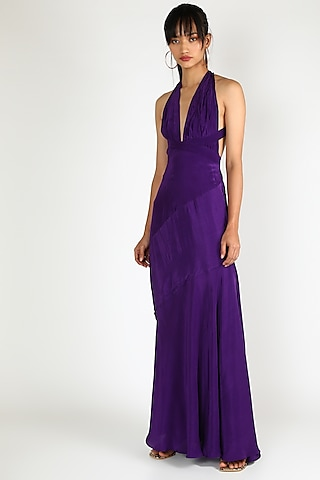 Purple Gown With Tie-Up by Deme by Gabriella