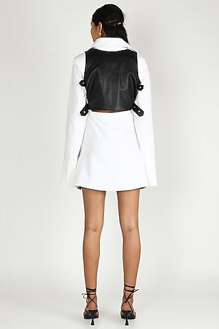 Black Leather Corset by Deme by Gabriella