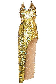 Golden Discs Dress by Deme by Gabriella