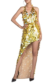 Golden Discs Dress by Deme by Gabriella