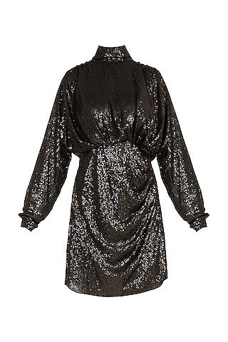 Black Sequins Mini Dress by Deme by Gabriella