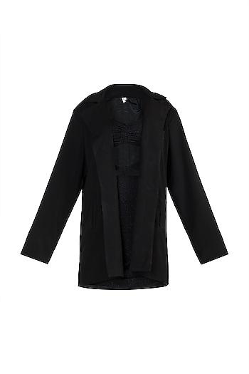 Black Shimmer Mini Dress With Blazer by Deme by Gabriella