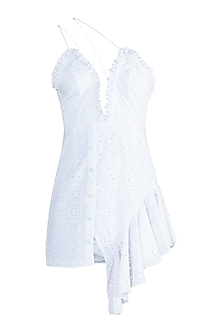 White Mini Dress by Deme by Gabriella