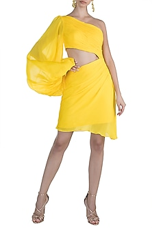 Yellow Chiffon Dress by Deme by Gabriella
