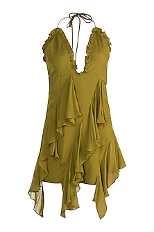 Olive Green Mini Dress by Deme by Gabriella