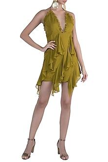 Olive Green Mini Dress by Deme by Gabriella