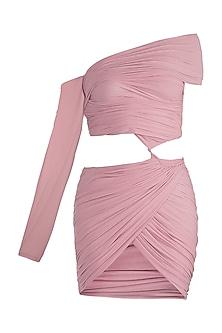 Pink Stretch Net Dress by Deme by Gabriella