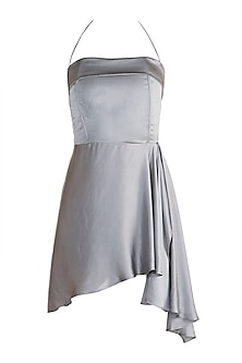 Grey Corset Mini Dress by Deme by Gabriella