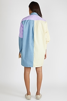 Multi Colored Panelled Shirt by Deme By Gabriella