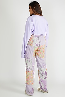 Multi Colored Printed & Patched Joggers by Deme By Gabriella