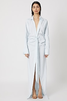 Pale Blue Long Shirt Gown by Deme by Gabriella