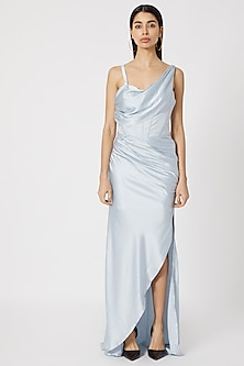 Pale Blue Corset Gown by Deme by Gabriella