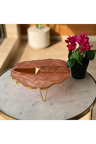 Pink Resin Cake Stand by Mason Home