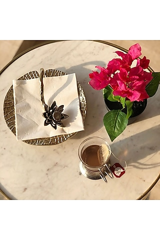 Gold Aluminum Napkin Stand by Mason Home