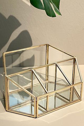 Golden Mirror Desk Organiser by Mason Home