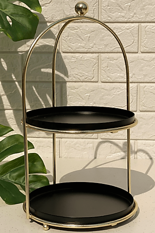Black Iron Tromso Two Tiered Stand by Mason Home