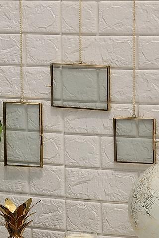 Golden Milan Photo Frames (Set of 3) by Mason Home