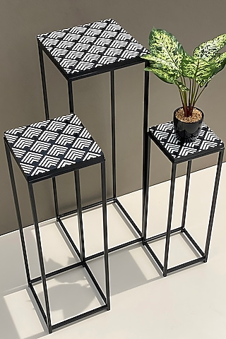 Black Rhodes Tables (Set of 3) by Mason Home