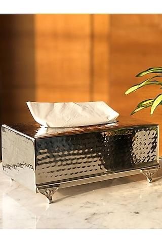 Silver Finish Rectangle Safi Tissue Box by Mason Home