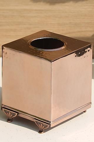 Rose Gold Finish Square Safi Tissue Box by Mason Home