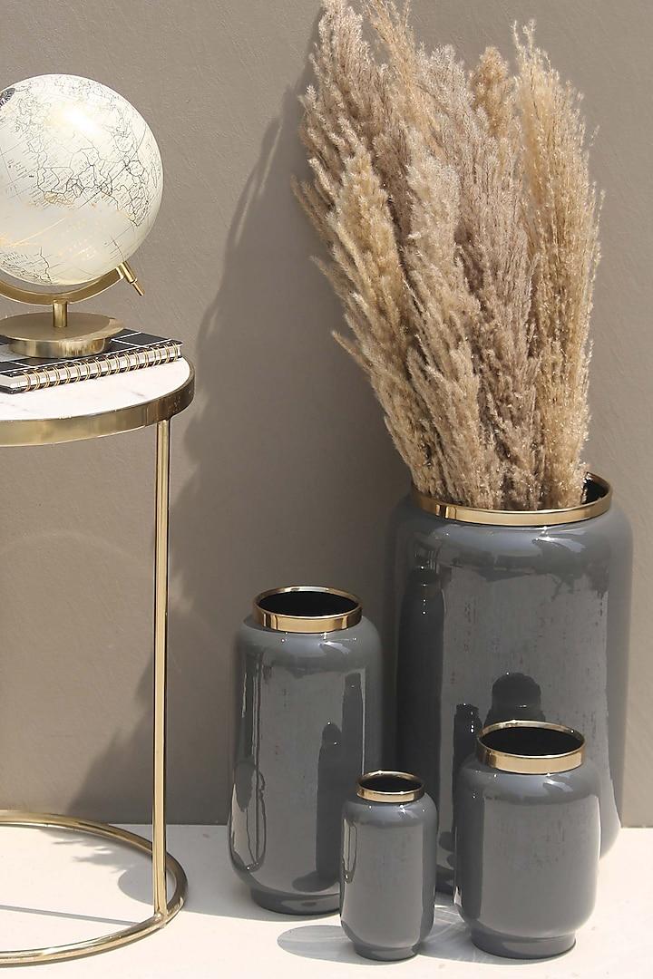 Grey Iris Vase by Mason Home